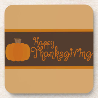 Happy Thanksgiving Autumn Pumpkin Coaster