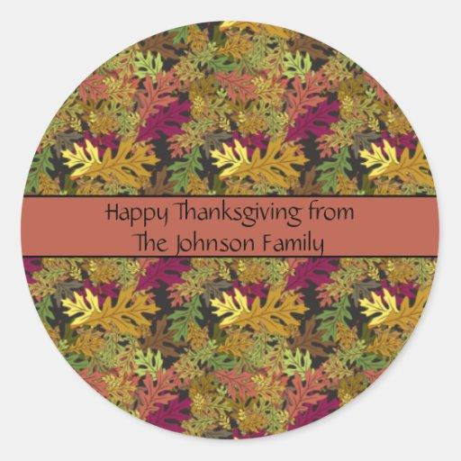 Happy Thanksgiving Autumn Stickers