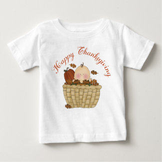 Happy Thanksgiving Basket Baby Gift Baby T-Shirt
