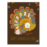 Happy Thanksgiving Beautiful Turkey Card Postcards
