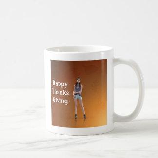 Happy Thanksgiving Bree Basic White Mug
