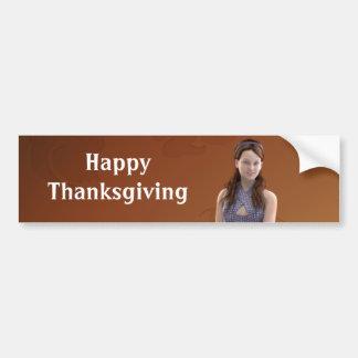 Happy Thanksgiving Bree Bumper Sticker
