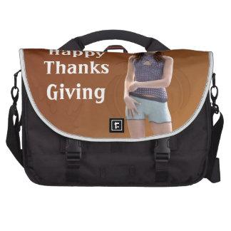 Happy Thanksgiving Bree Laptop Bag