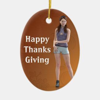 Happy Thanksgiving Bree Ornaments
