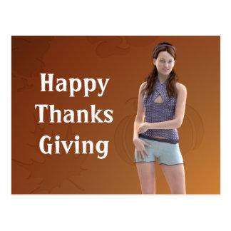 Happy Thanksgiving Bree Postcard