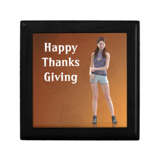 Happy Thanksgiving Bree Small Square Gift Box
