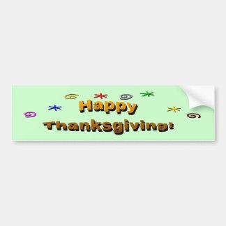 Happy Thanksgiving Car Bumper Sticker