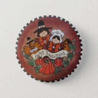 Happy Thanksgiving Button Pin
