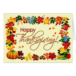 HAPPY THANKSGIVING by SHARON SHARPE Card