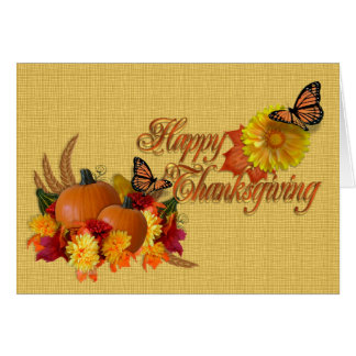 Happy Thanksgiving card butterflies