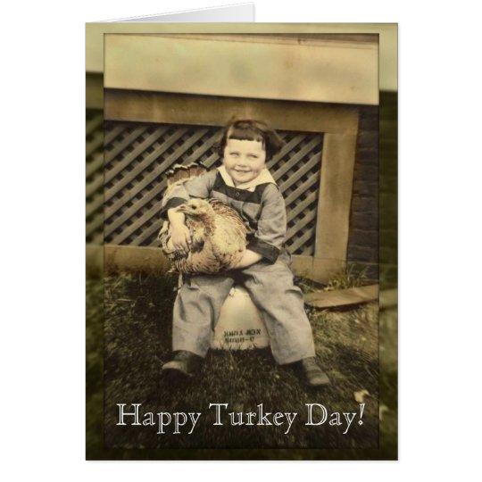 Happy Thanksgiving Card! Vintage photos Card