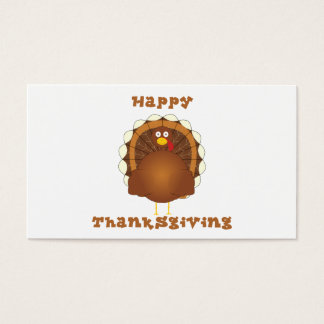 Happy Thanksgiving cartoon turkey gift tags Business Card