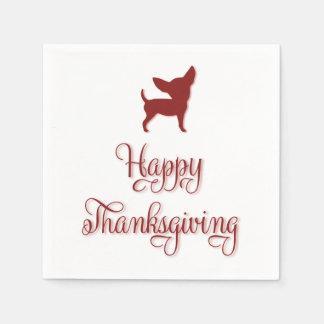 Happy Thanksgiving Chihuahua Paper Napkins