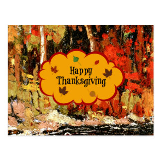 """Happy Thanksgiving,"" Colors of Autumn Postcard"