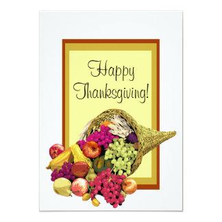 Happy Thanksgiving Cornucopia Invitation