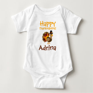 Happy Thanksgiving Custom Baby Tutu Bodysuit
