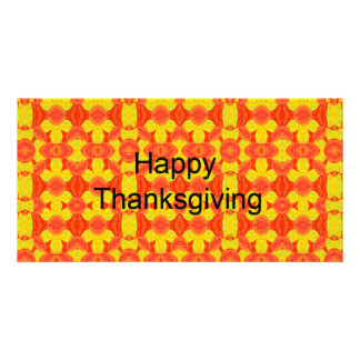 Happy Thanksgiving Custom Photo Card