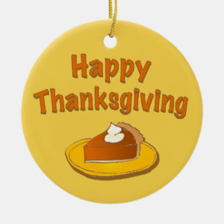 Happy Thanksgiving Custom Thank You Ornament