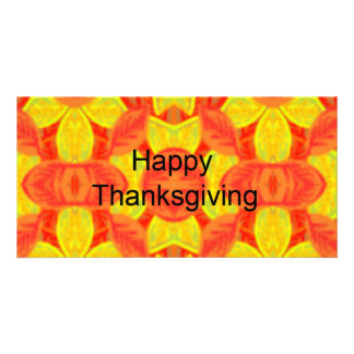 Happy Thanksgiving Customized Photo Card