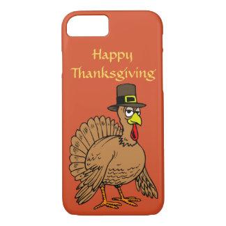 Happy Thanksgiving Cute Turkey Pilgrim Cartoon iPhone 7 Case