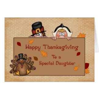 Happy Thanksgiving Daughter Greeting Card