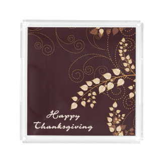 Happy Thanksgiving Day Acrylic Tray