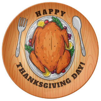Happy Thanksgiving Day. Plate