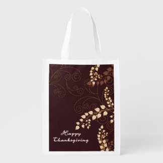 Happy Thanksgiving Day Reusable Grocery Bag