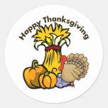 Happy Thanksgiving Day Round Sticker