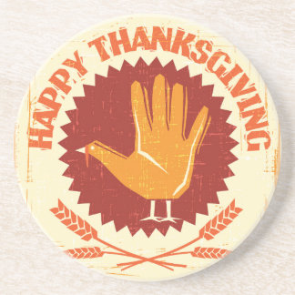 Happy Thanksgiving Design Coaster