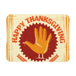 Happy Thanksgiving Design Magnet