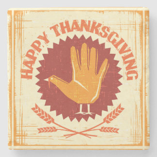Happy Thanksgiving Design Stone Coaster