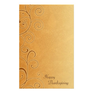 Happy Thanksgiving Fall Swirls Stationery