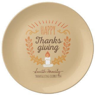 Happy Thanksgiving. Family Celebration. Plate
