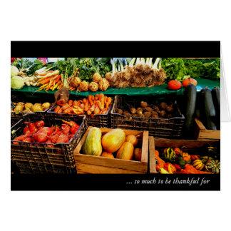 Happy Thanksgiving ~ Farmer's Market in Paris Note Card