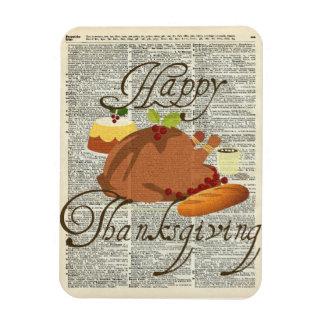 Happy Thanksgiving Rectangular Photo Magnet