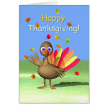 Happy Thanksgiving for Kids - Baby Turkey Greeting Card