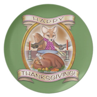 Happy Thanksgiving- Frieda Tails collectible plate