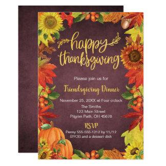 Happy Thanksgiving, Friendsgiving Dinner Invite