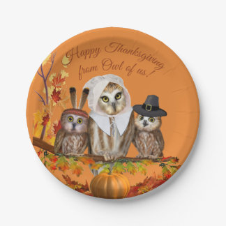 HAPPY THANKSGIVING FROM OWL OF US! PAPER PLATE
