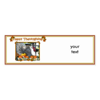 HAPPY THANKSGIVING from Turkey Tom Business Card Template