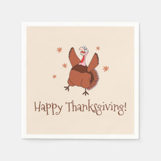 Happy Thanksgiving Funny Turkey Disposable Napkin
