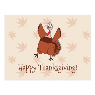 Happy Thanksgiving Funny Turkey Postcard