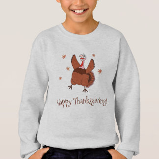 Happy Thanksgiving Funny Turkey Sweatshirt