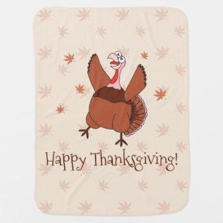 Happy Thanksgiving Funny Turkey Unisex Baby Baby Blanket