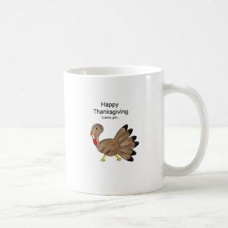 Happy Thanksgiving gobble! Basic White Mug