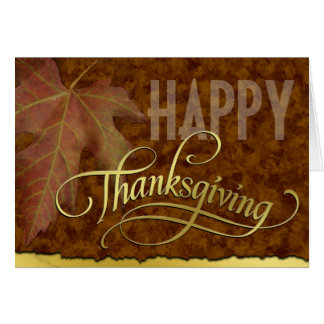 Happy Thanksgiving-Golden Card