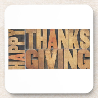 Happy Thanksgiving - Greetings Or Wishes Coaster