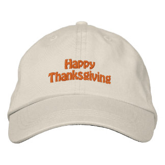 Happy Thanksgiving Hat Embroidered Hats