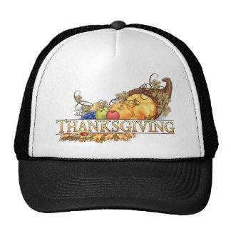 Happy Thanksgiving Horn Of Plenty Mesh Hats